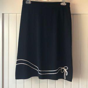 St John Collection black sweater skirt